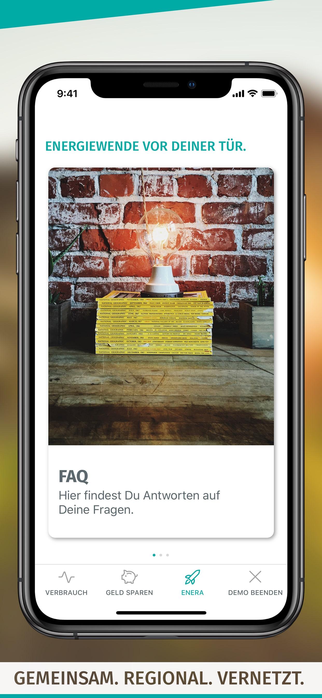 enera App-Screen-FAQ