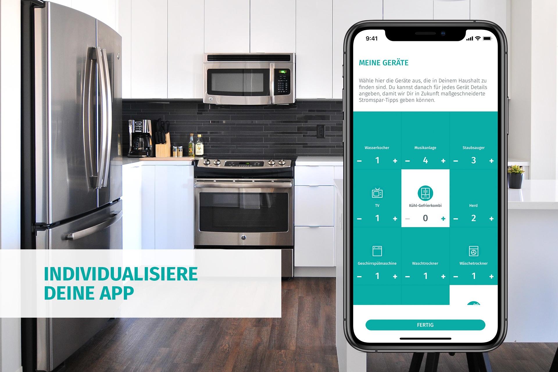 Individualisiere deine enera App