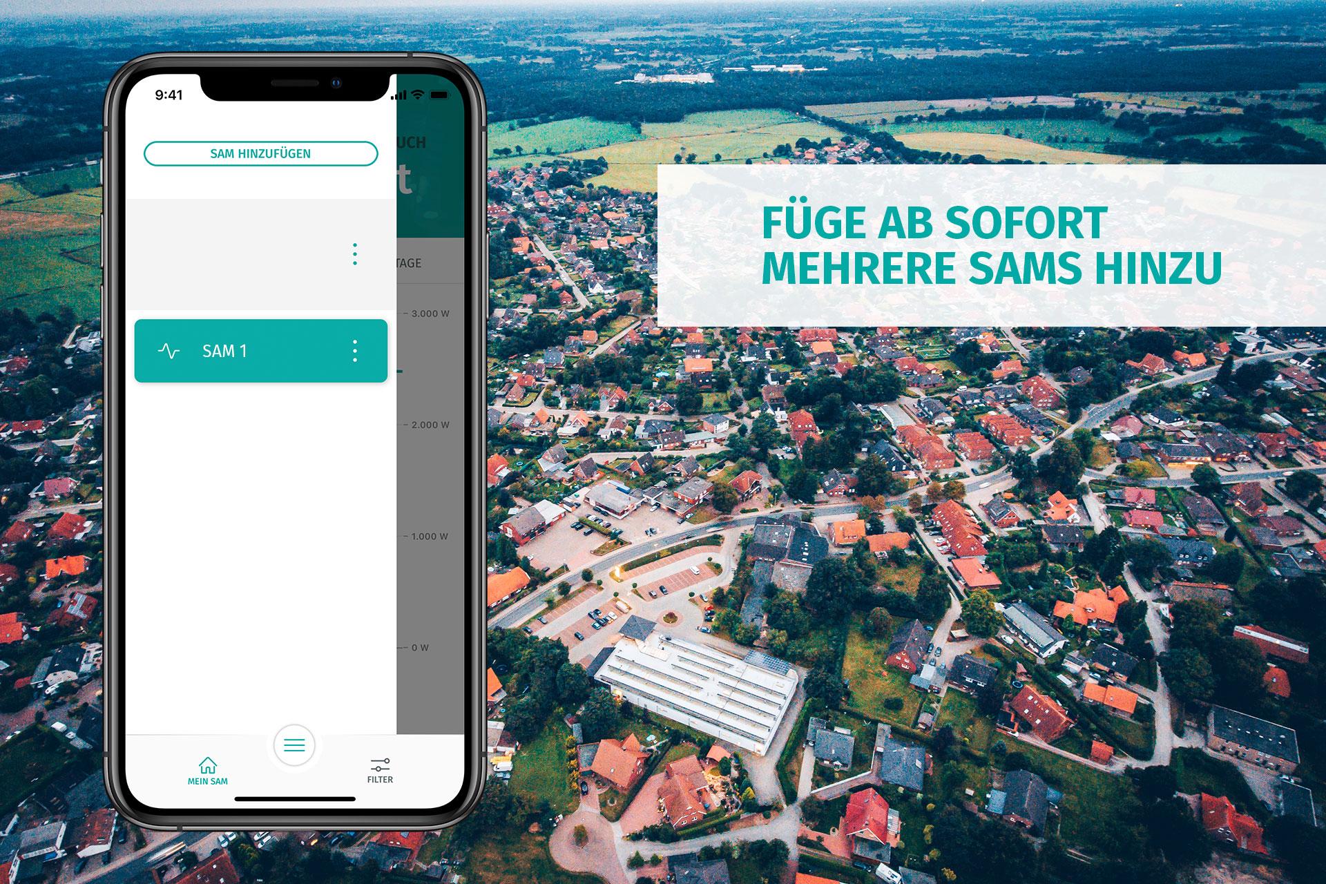 enera App mit SAMs