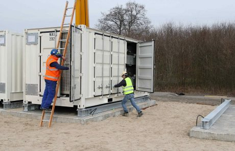 Installation des Batteriespeichers in Varel
