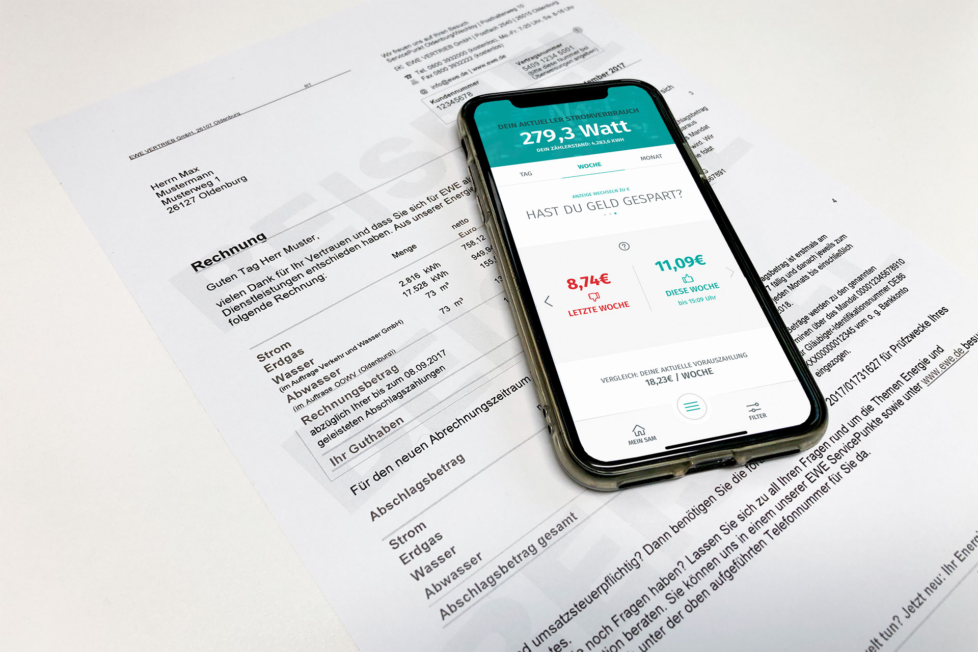 Stromabschlag berechnen mit enera App