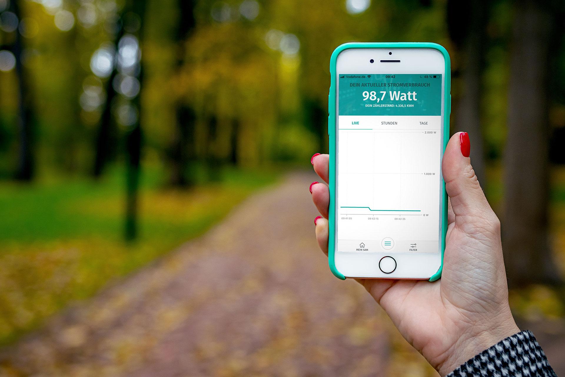 enera App unterwegs