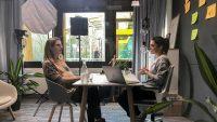 Aufnahme des enera Podcasts mit Jutta Fortmann