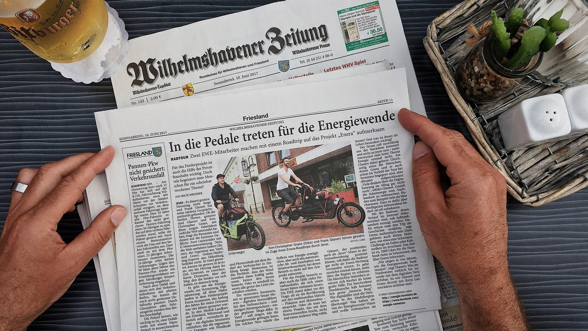 Zeitungsberichte zum enera Roadtrip